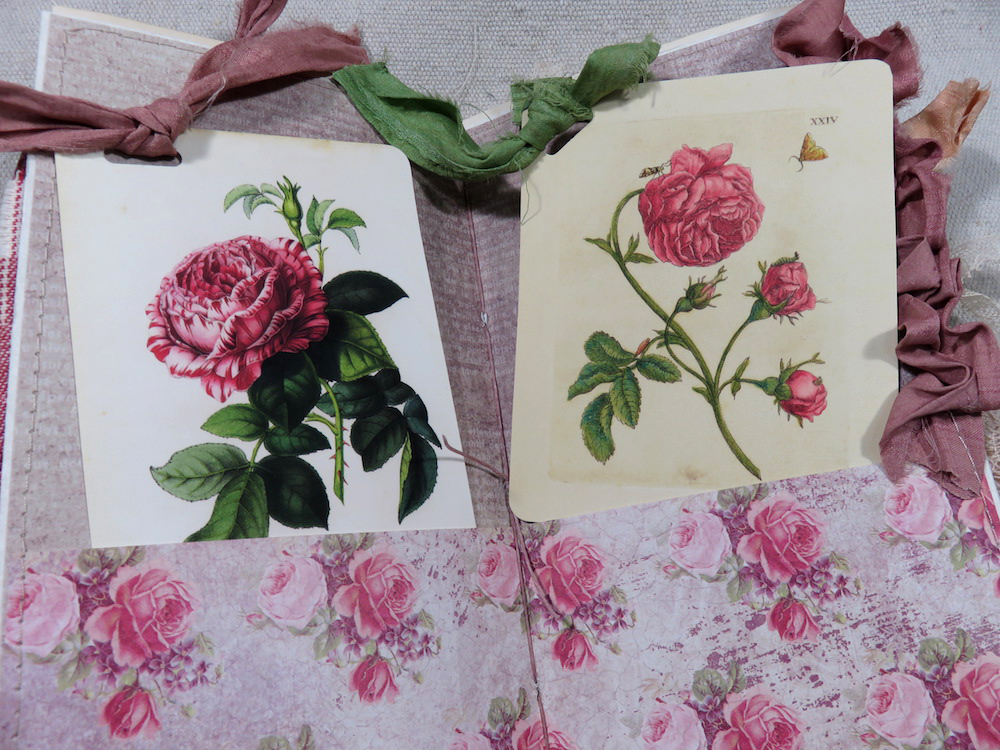 rose journal cards