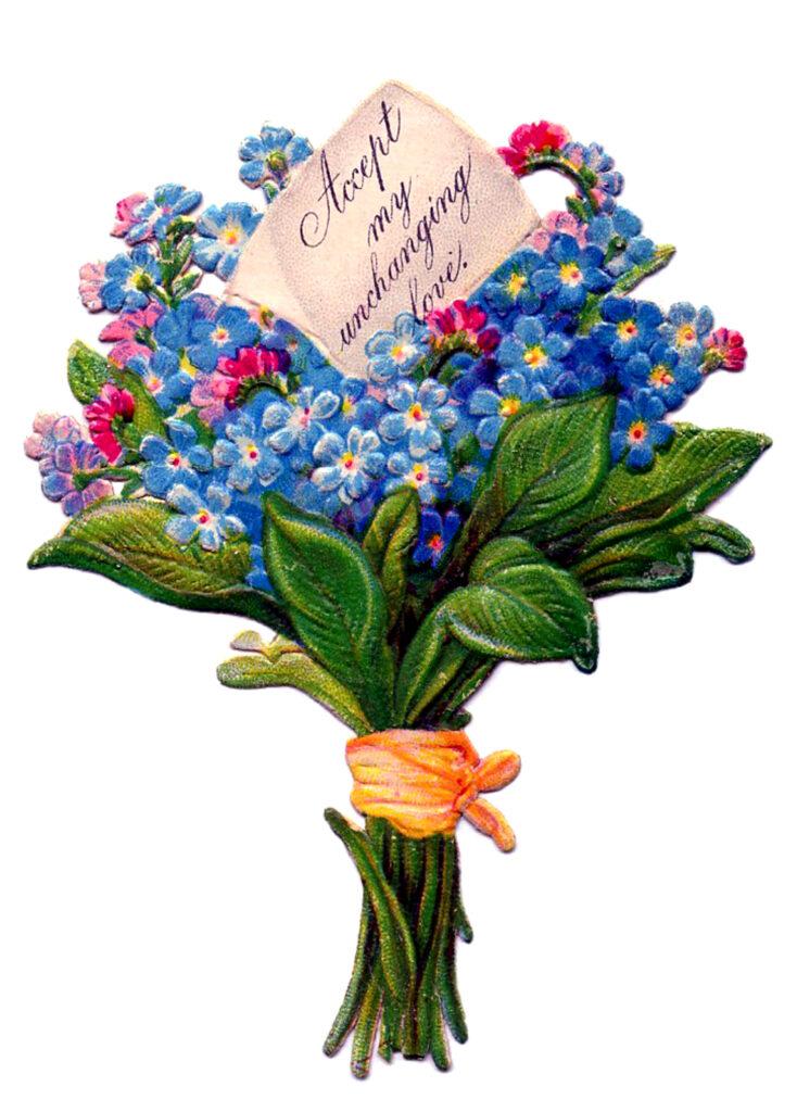 vintage hand tied floral bouquet image