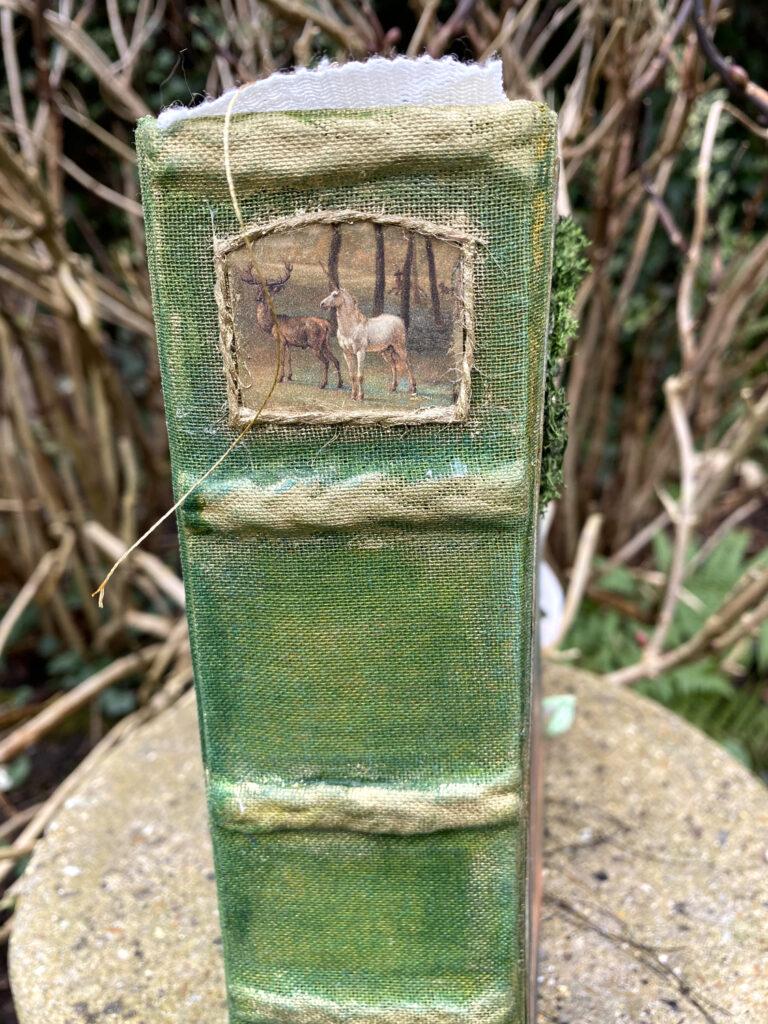 Forest Fairy Junk Journal spine