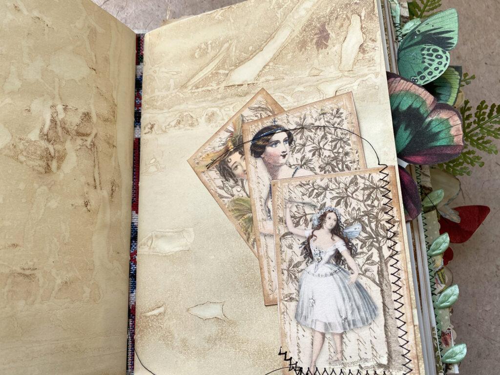 dancing fairies ephemera journal page