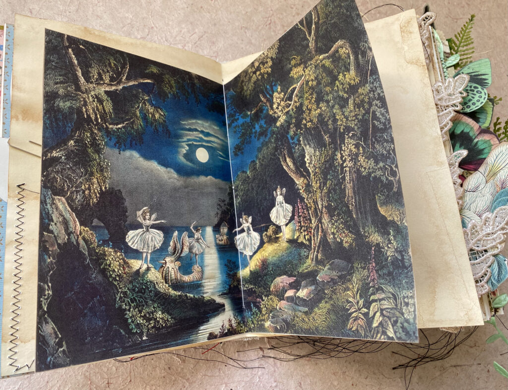vintage ephemera fairy journal spread