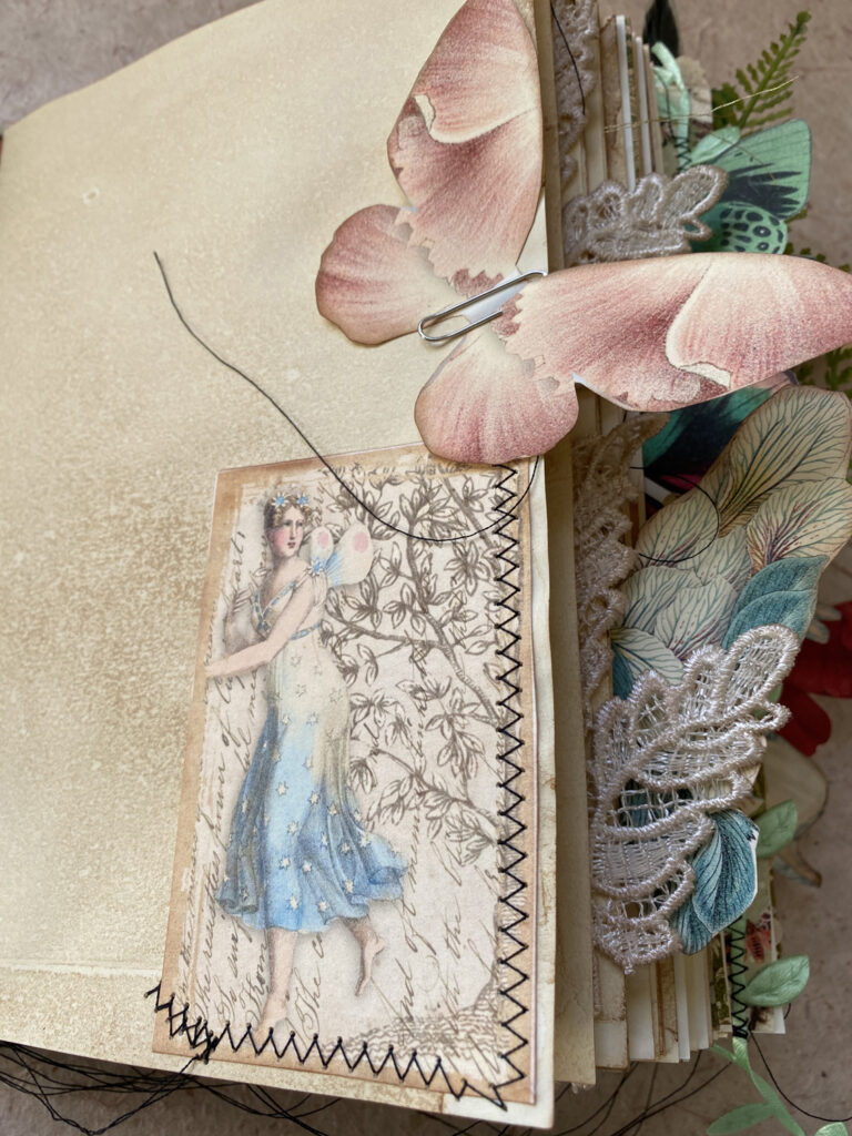 blue fairy journal pocket page