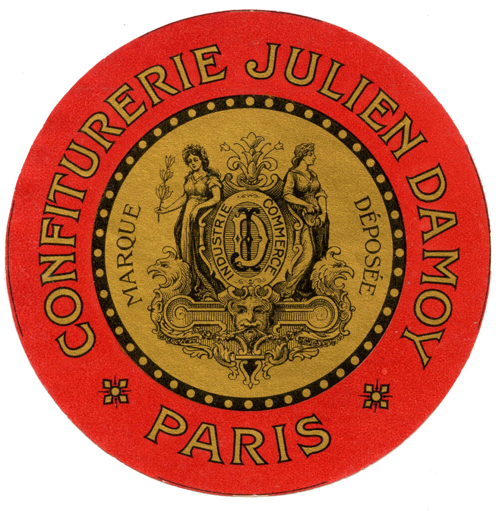 French round label confiturerie image