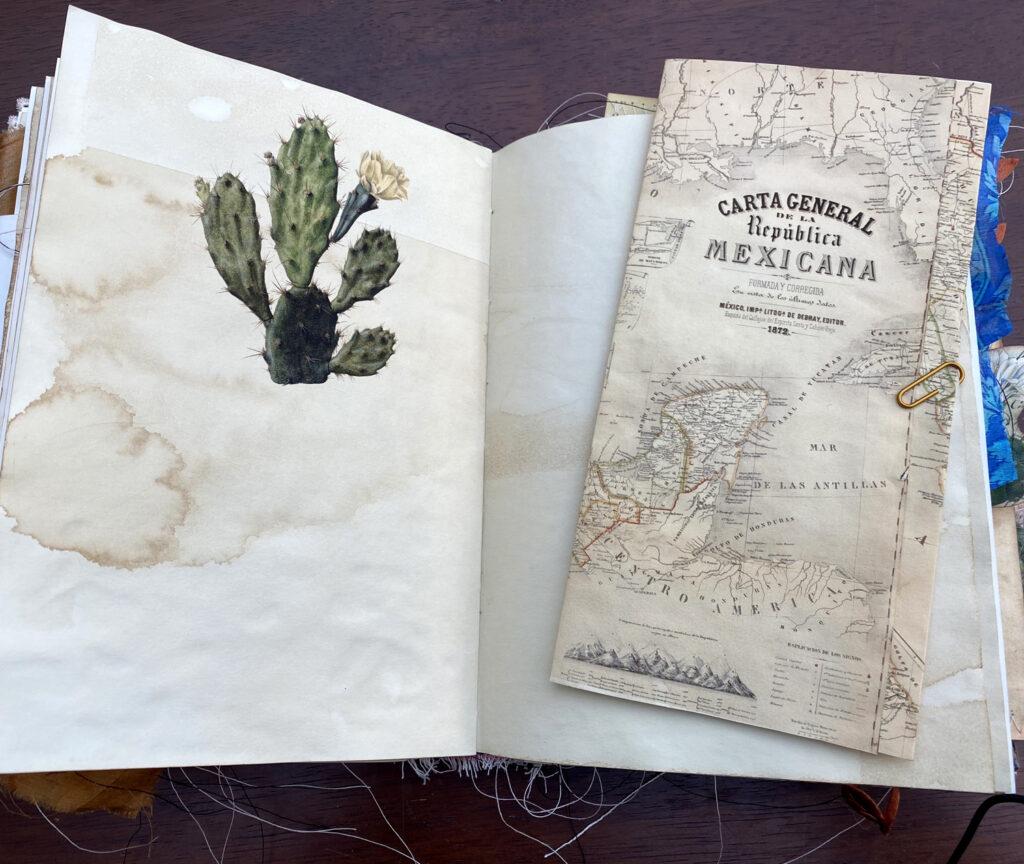 folded map journal folio