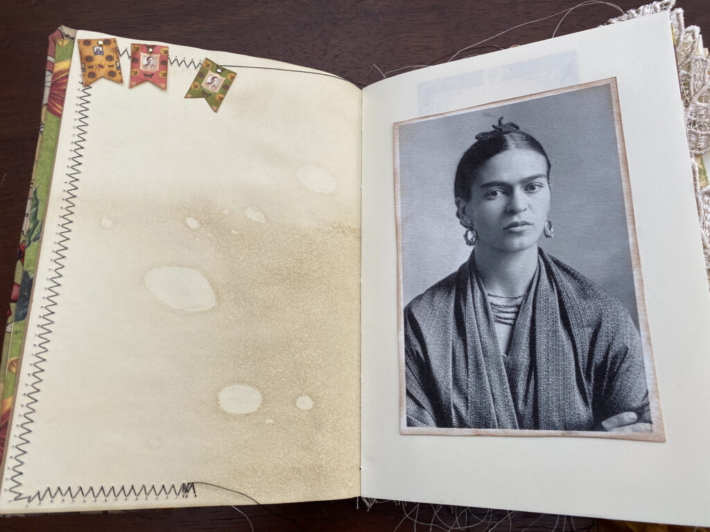 Frida photograph junk journal page