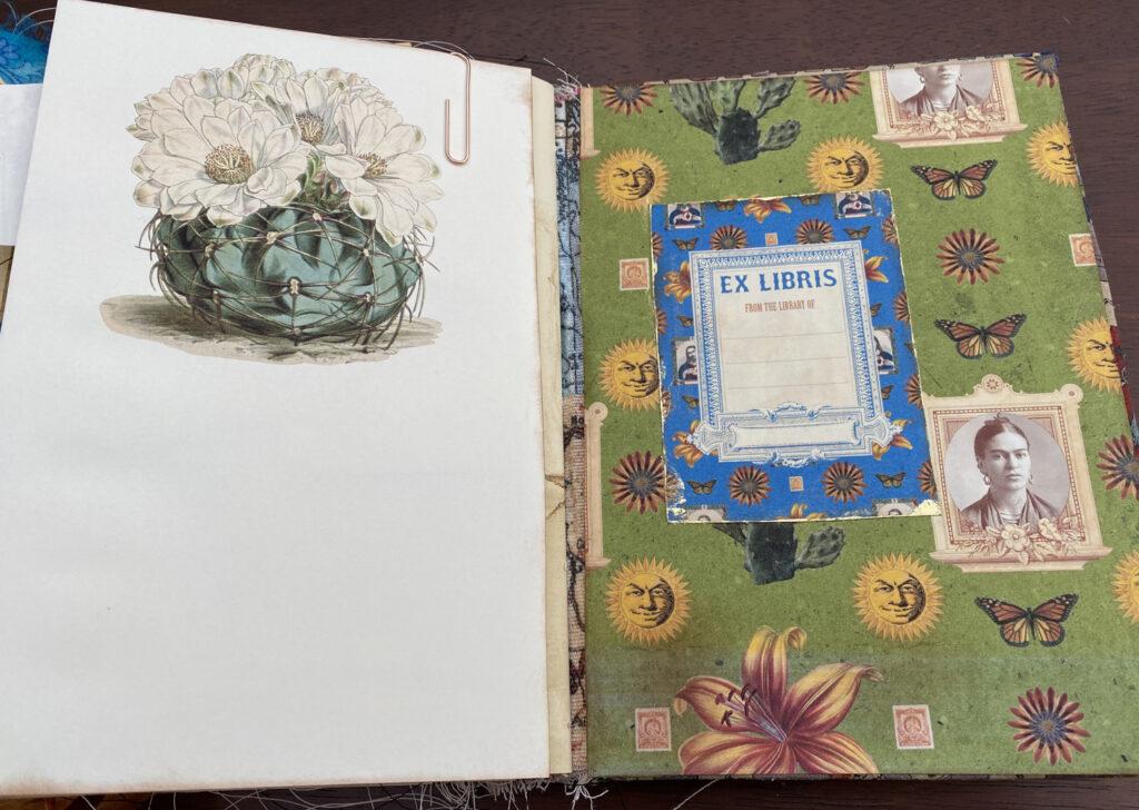 ex libris bookplate journal page