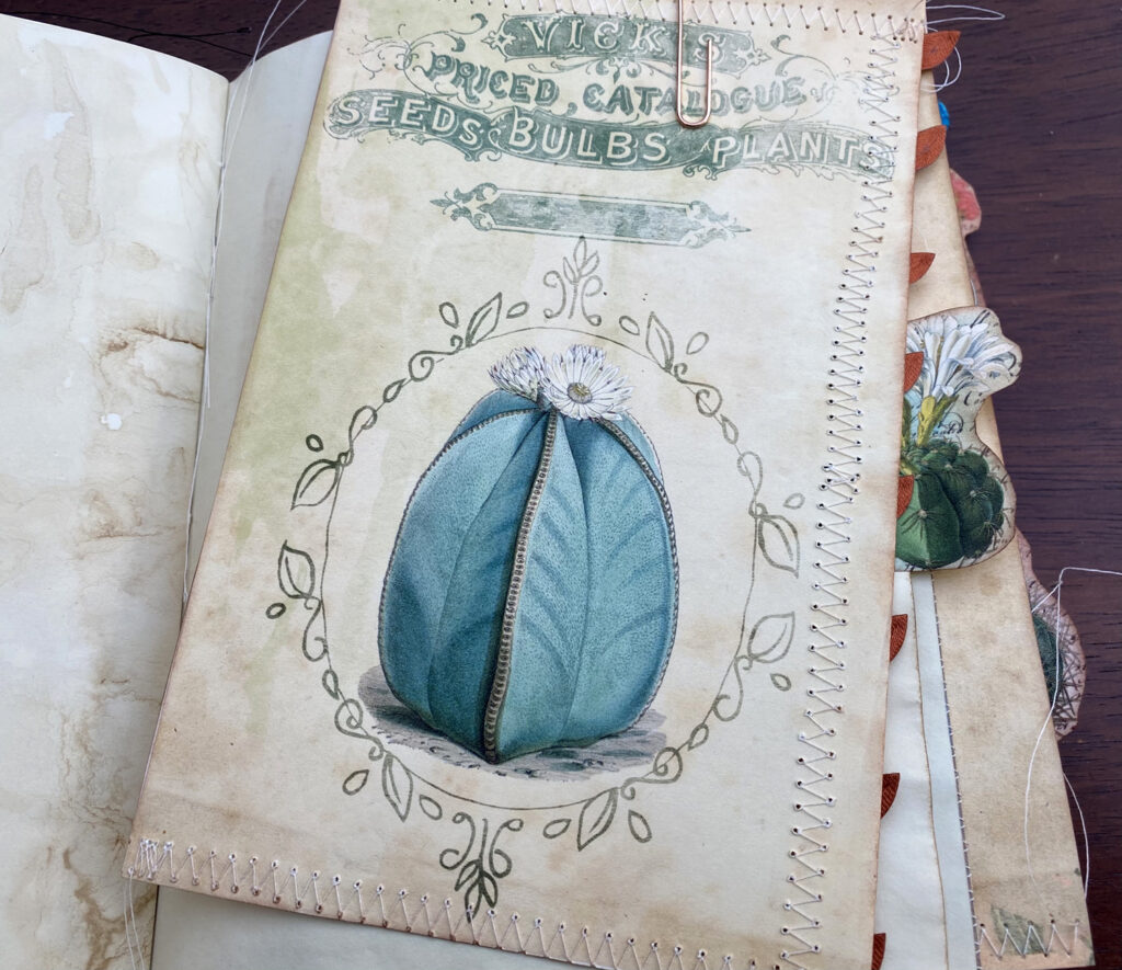 cactus printable journal attachment