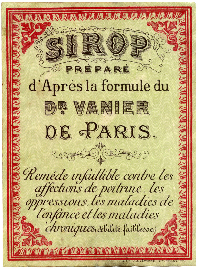 French sirop vintage label image