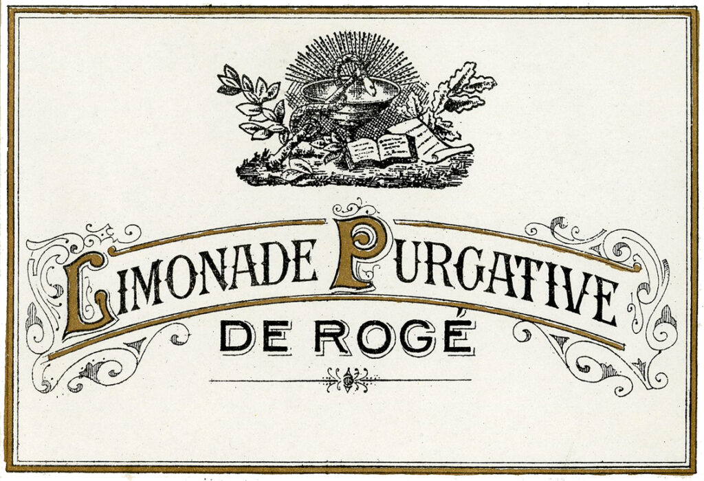 french vintage typography label image