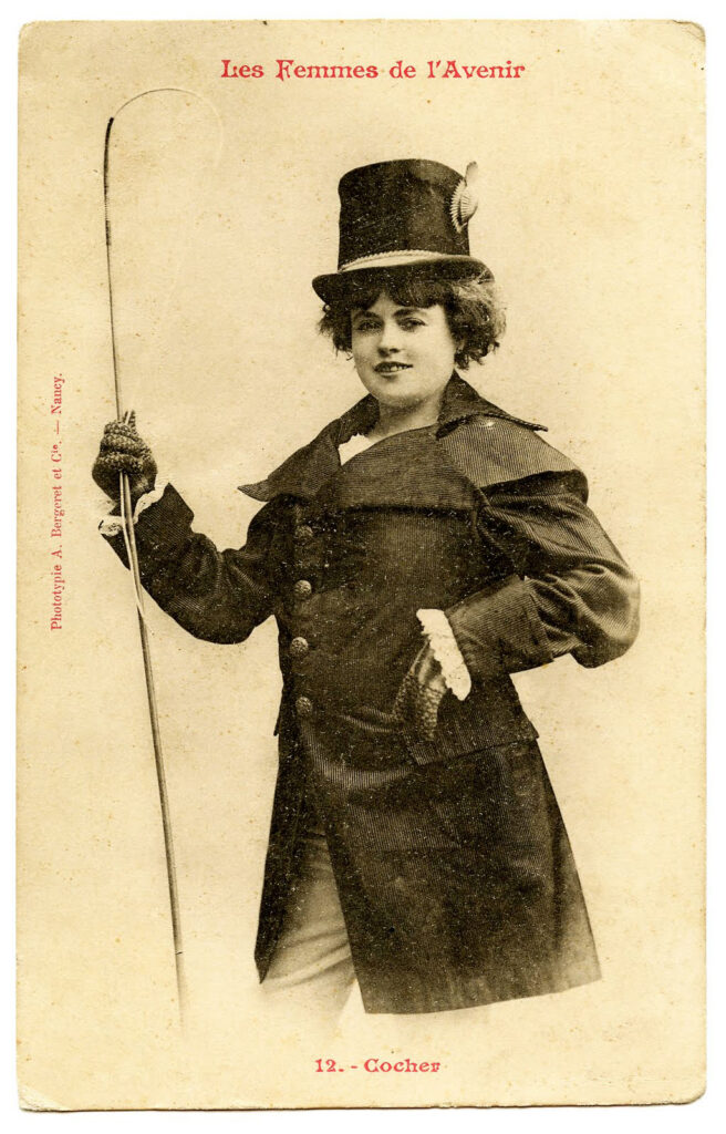 lady riding crop top hat photo image