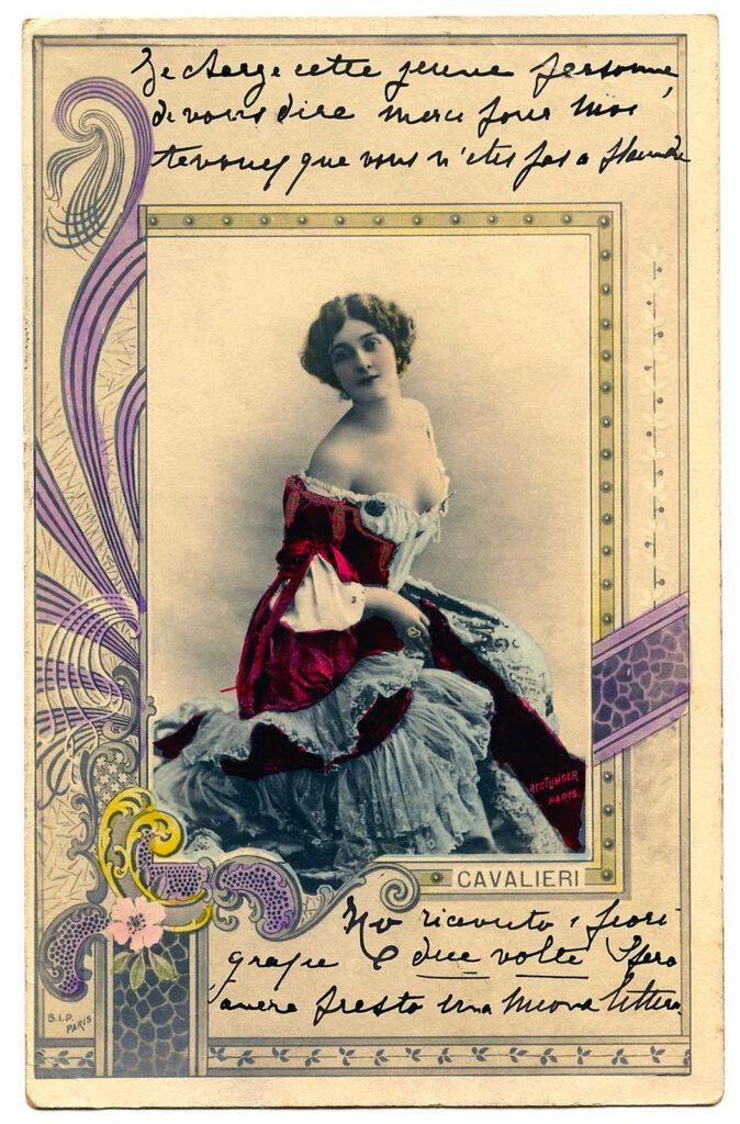 Lina Cavalieri vintage photo clip art