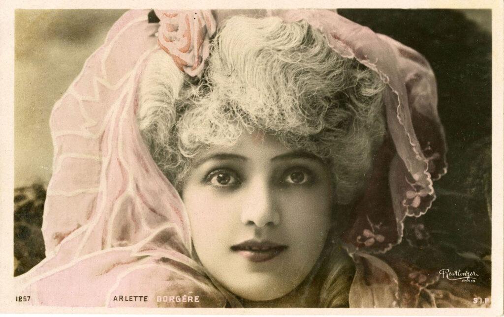 pretty French lady image