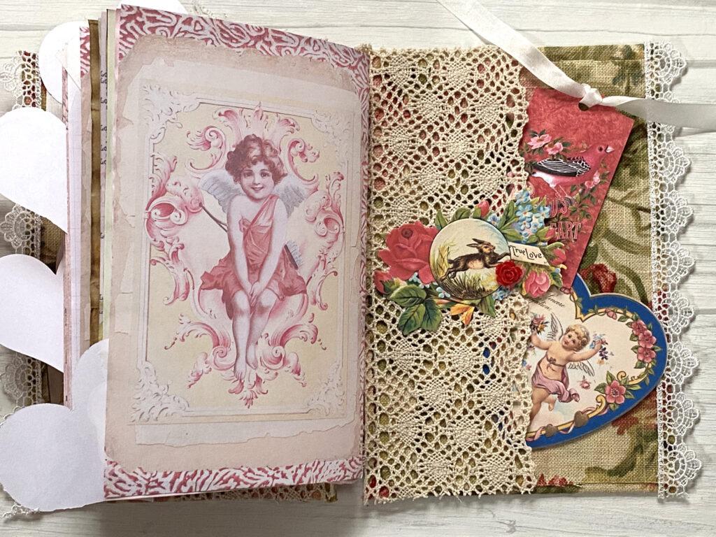 inside back cover lace pocket