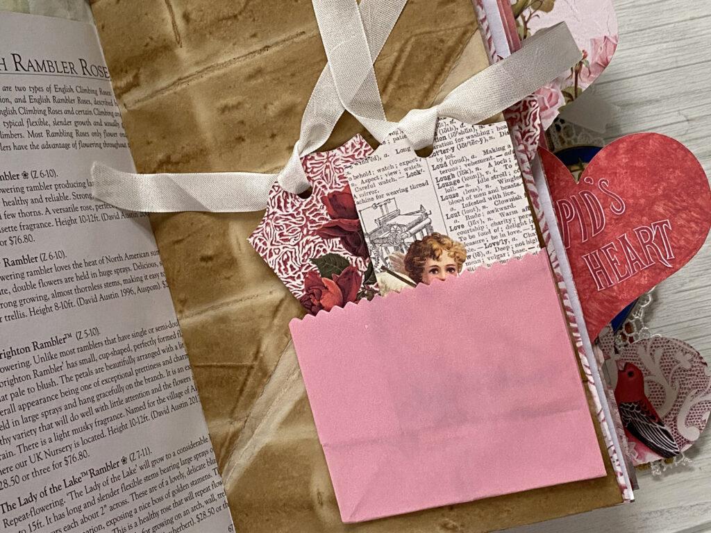 pink paper bag journal pocket