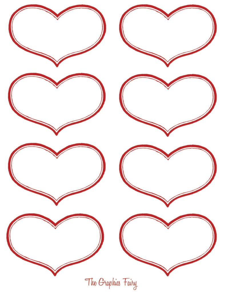 valentine stickers printable clipart