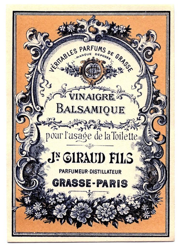 French Vinegar Label
