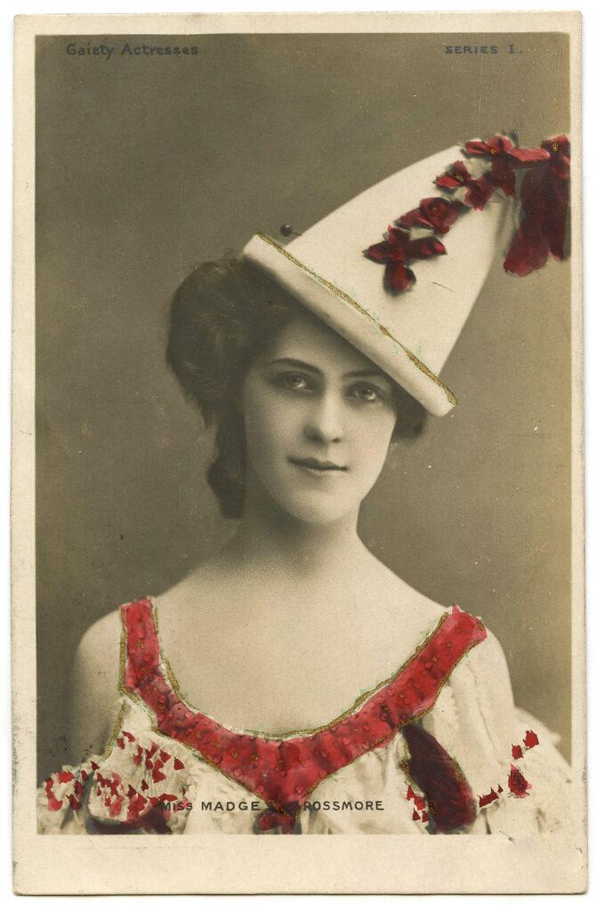 vintage Pierott clown actress image