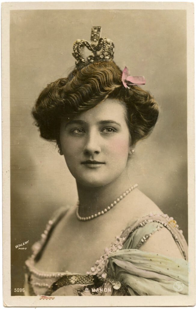 vintage actress queen crown image