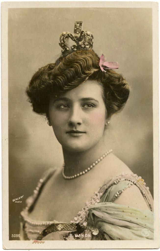 vintage actress queen crown image