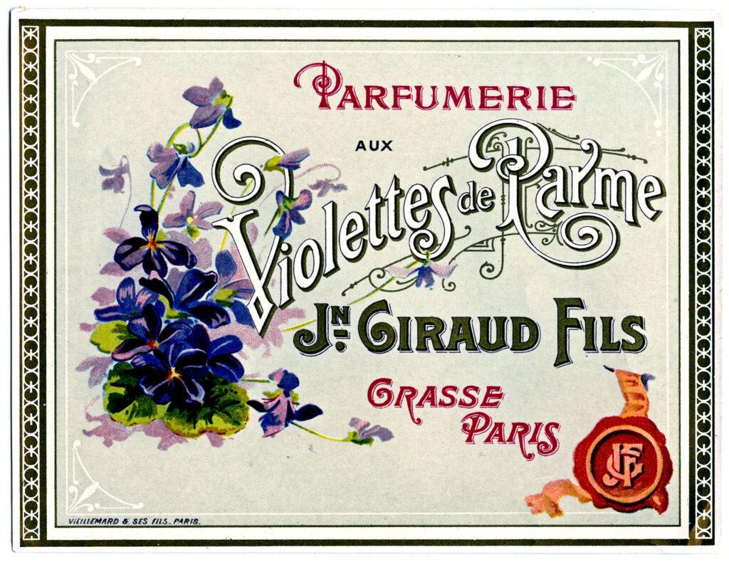 Violette Perfume Label