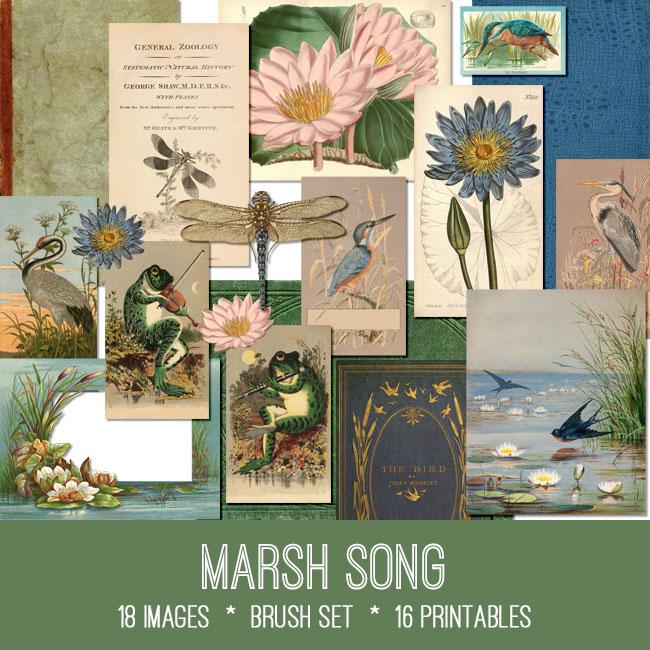 vintage Marsh Song ephemera bundle