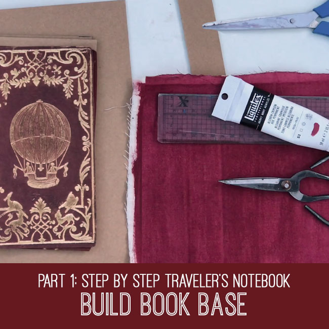 Step by Step Travelers Notebook Build Book Base