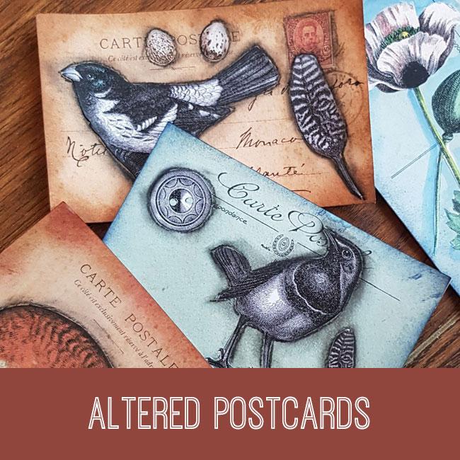 altered postcards tutorial