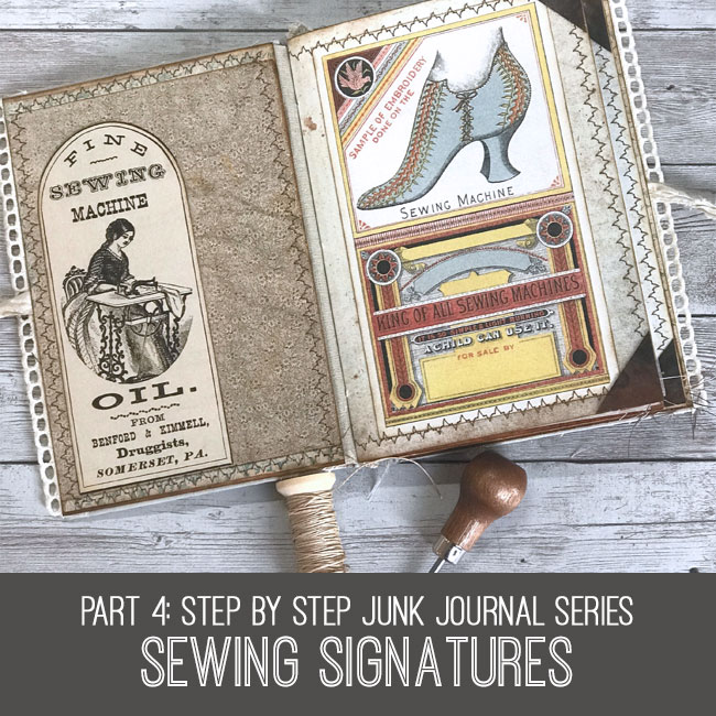 craft tutorial sewing signatures