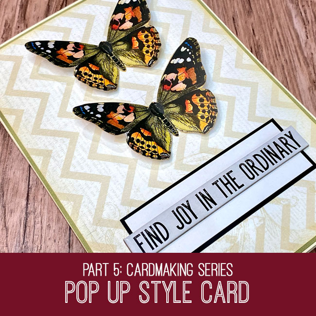 pop up style butterfly card tutorial