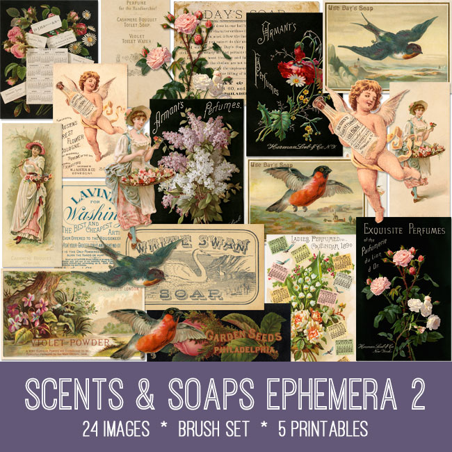 Scents & Soaps Ephemera 2 vintage images