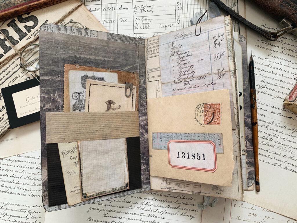 gentleman's junk journal pages