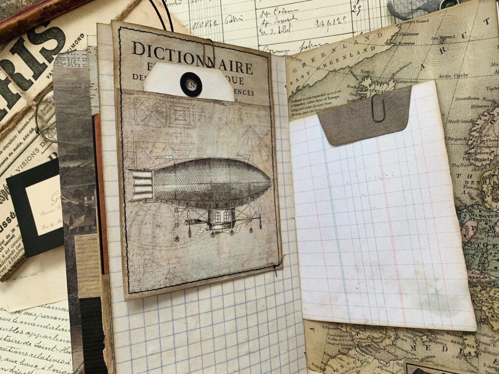 zeppelin image junk journal page