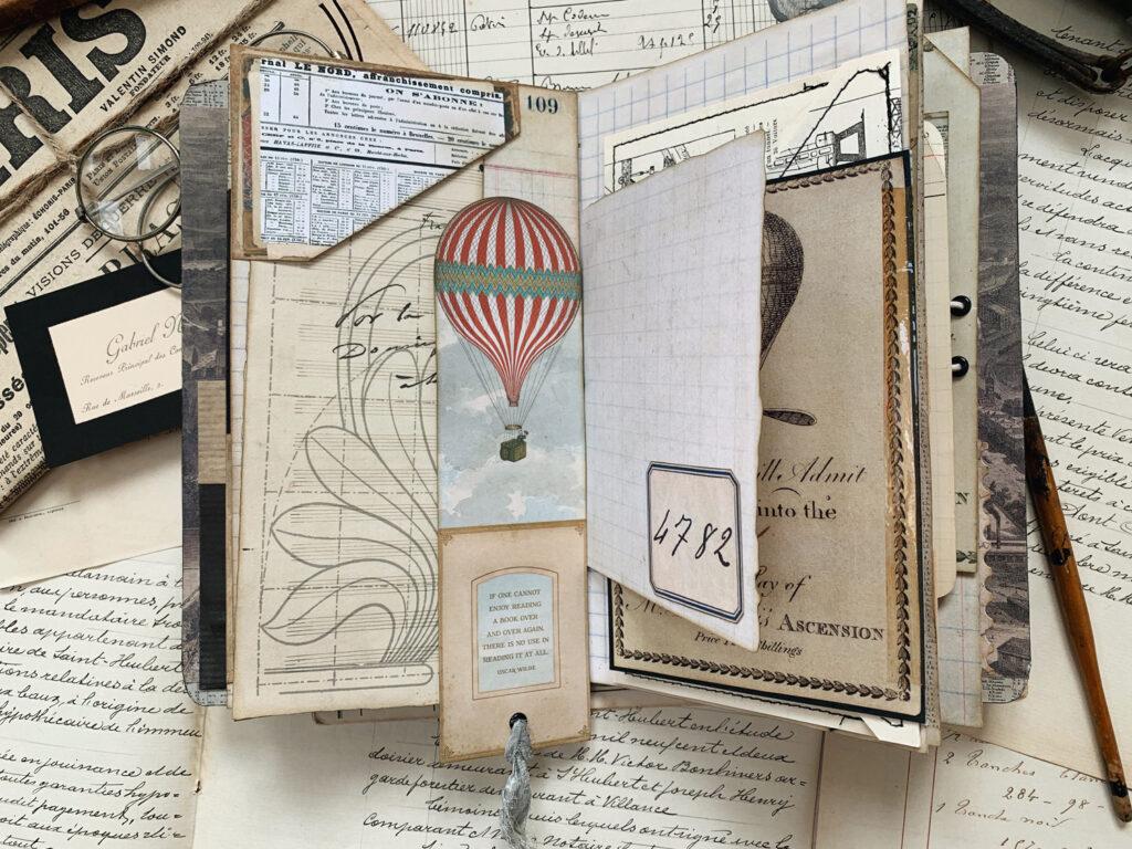 Hot Air Balloon bookmark tag