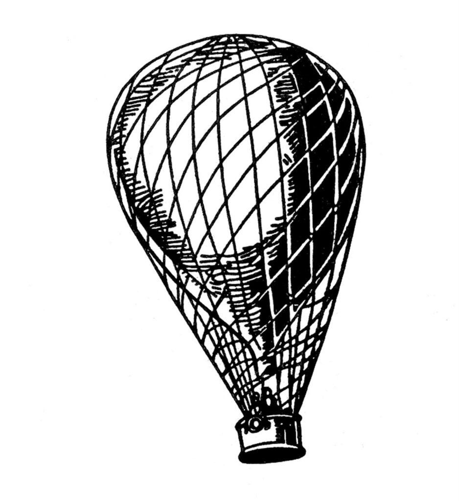 black white balloon clipart