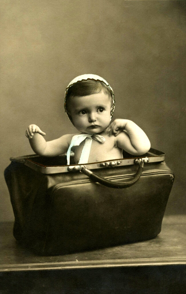 baby briefcase photograph image