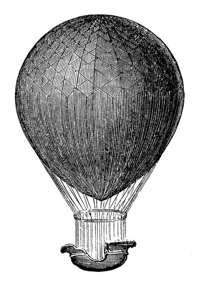 hot air balloon basket clipart