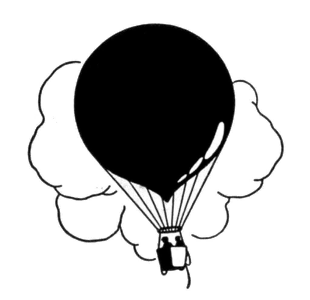 hot air balloon silhouette image