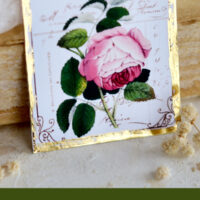 DIY Gold Rose Tags