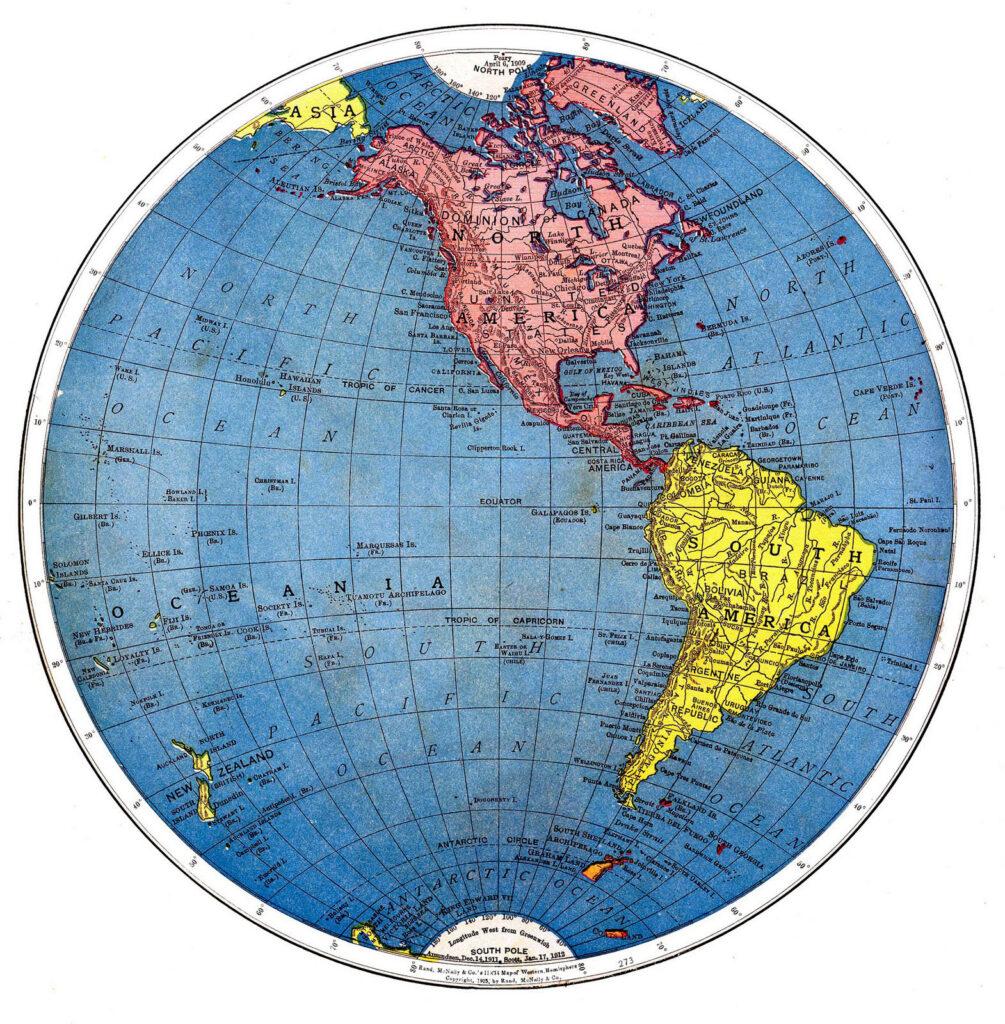 Earth western hemisphere image