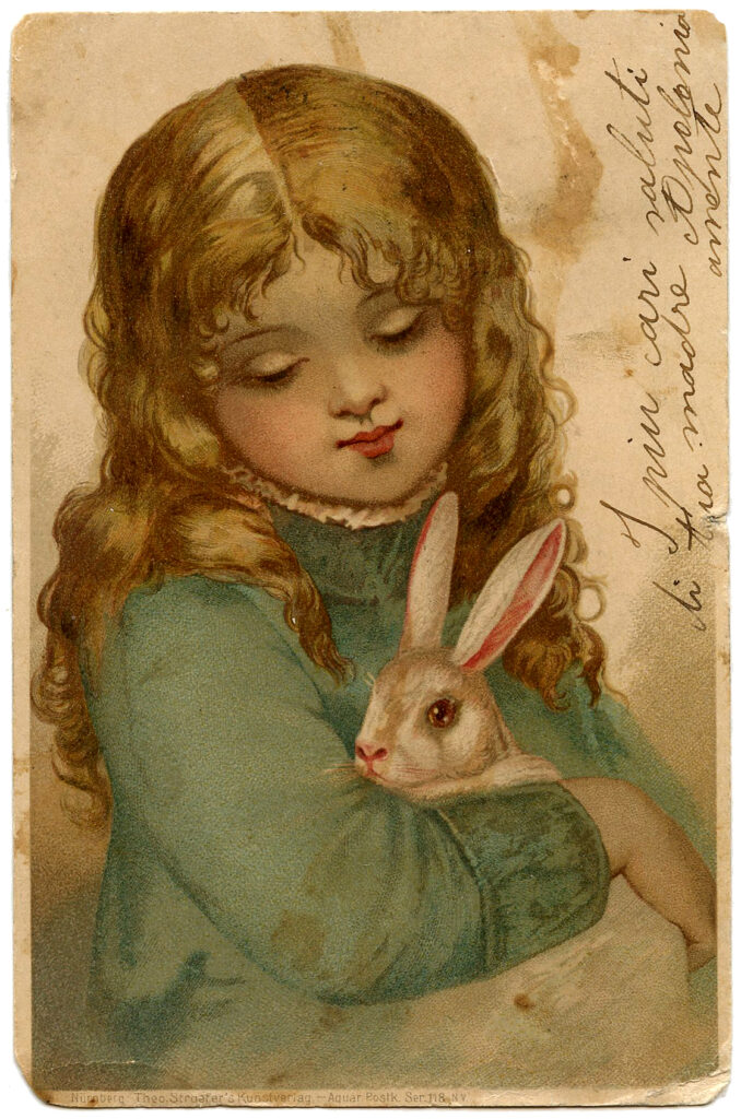 easter girl bunny rabbit image