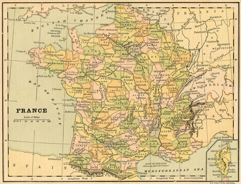 map France printable image