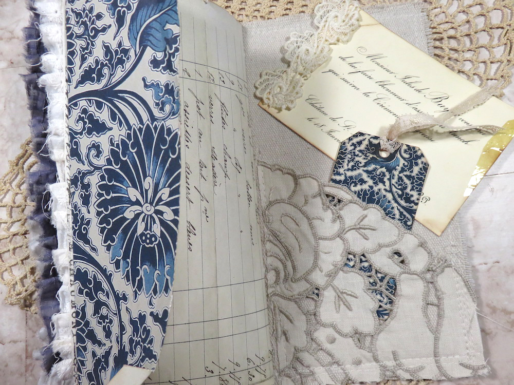 Vintage French Receipt junk journal page
