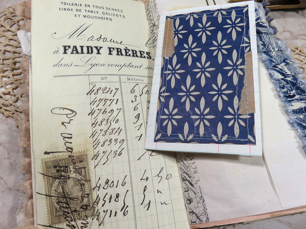 French receipts junk journal page