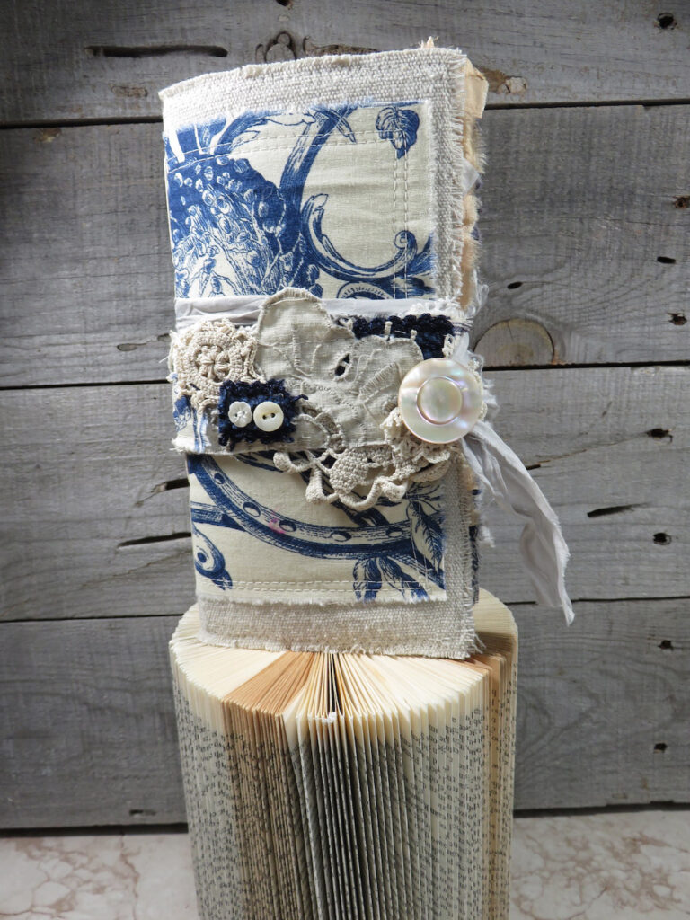French Blue Junk Journal Cover