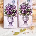 French Violet Tags Printable