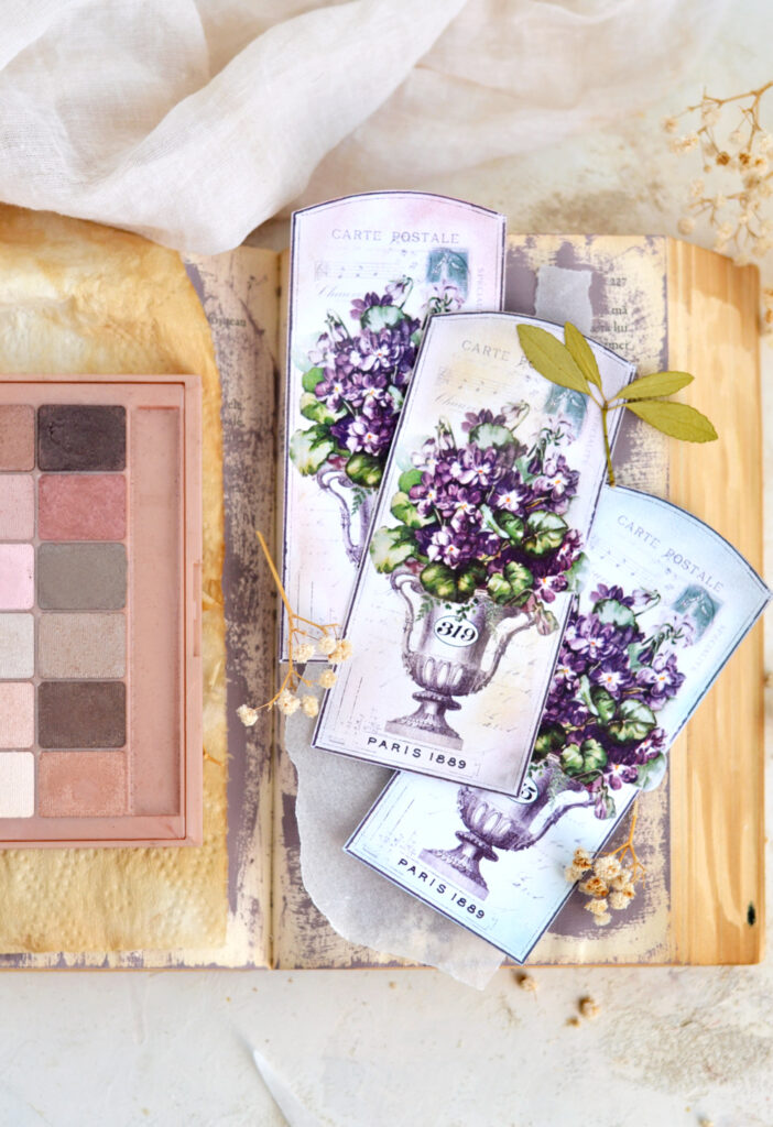 Vintage French Violet Tags