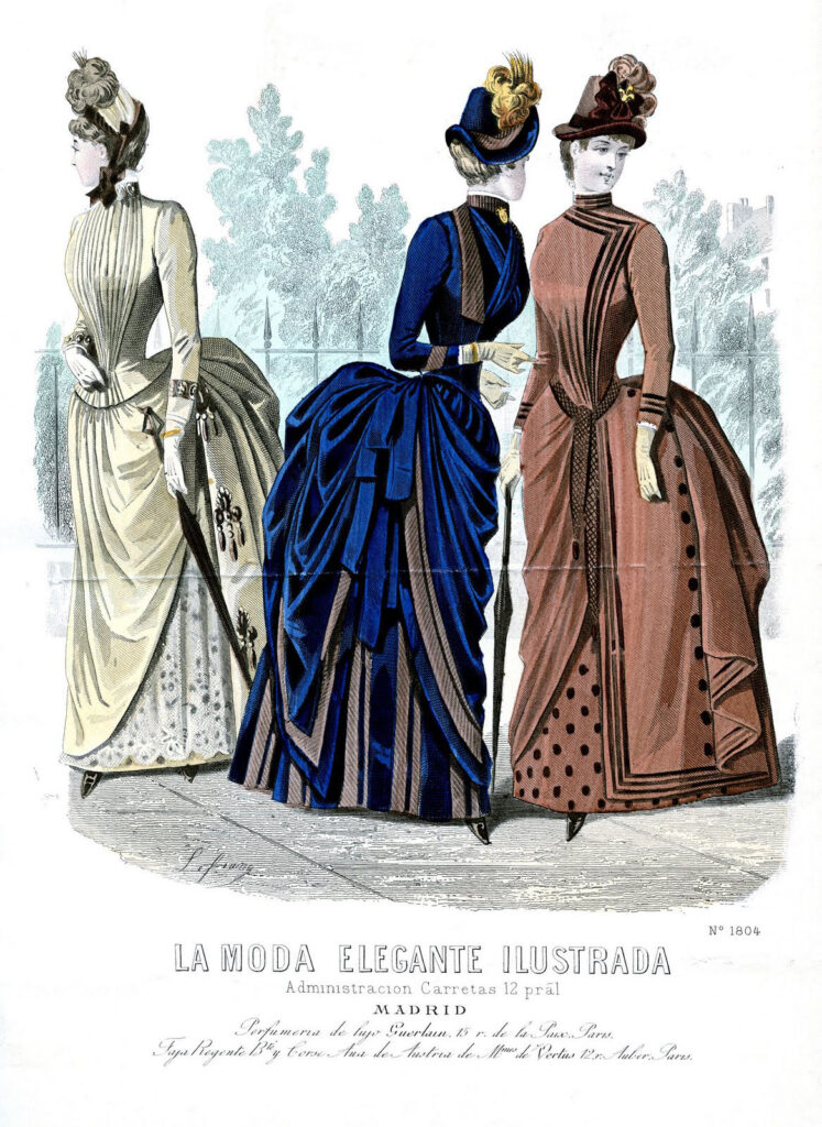 ladies Victorian fashion long sleeve image
