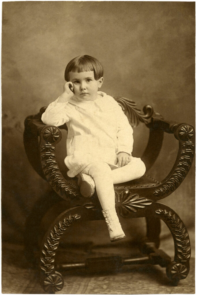 old photo girl chair clipart