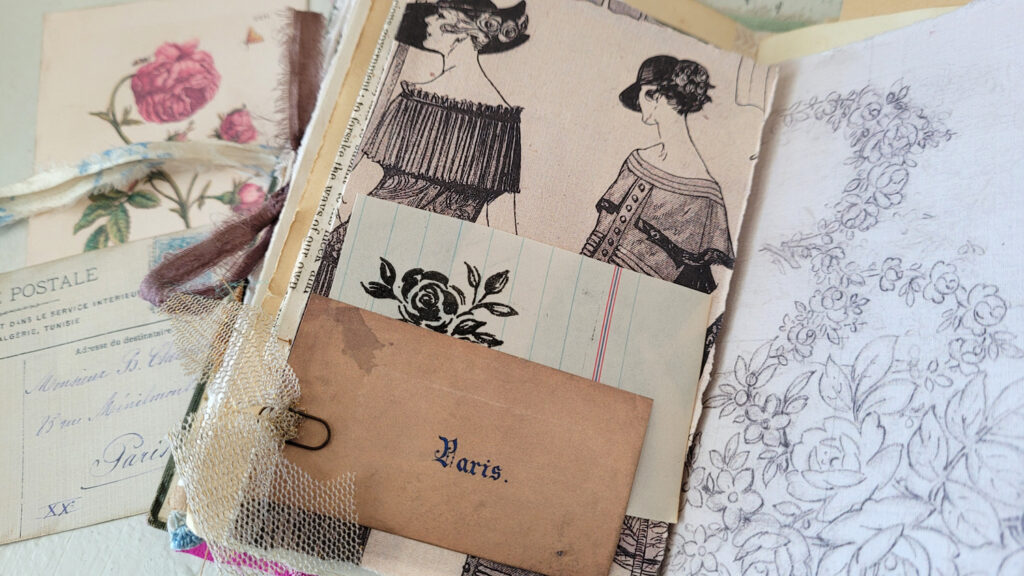 vintage ephemera junk journal page