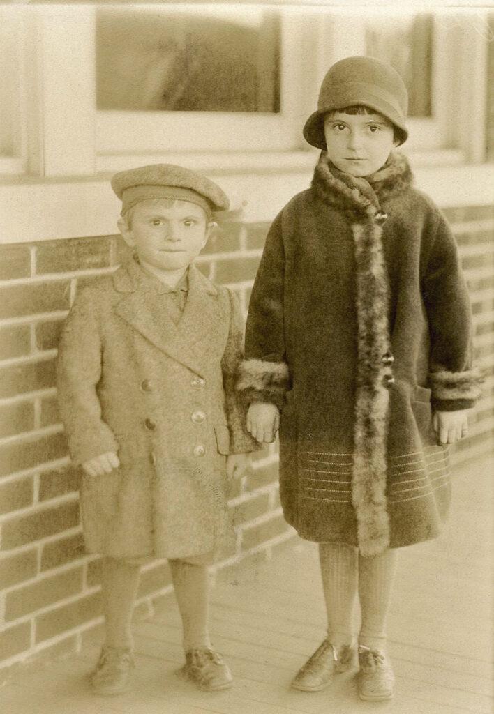 siblings coats photo clipart